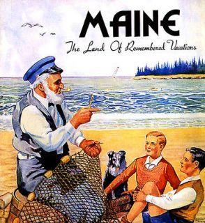 Maine - Vintage Travel Poster