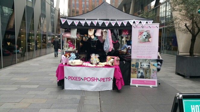 Spinningfields Manchester our stall
