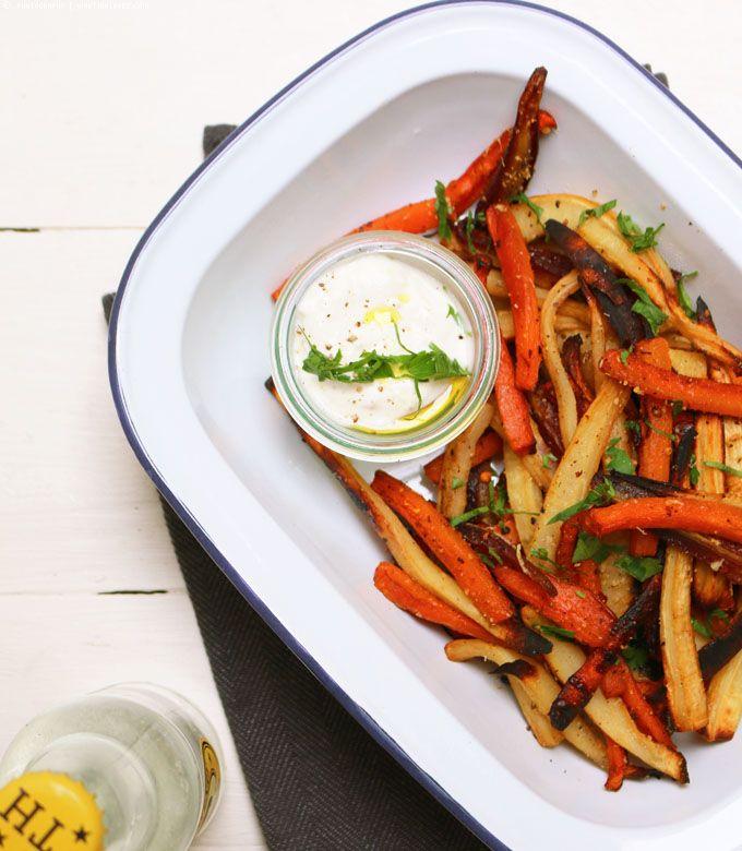 Gemüse Pommes aus Karotten, Pastinaken & Petersilienwurzel