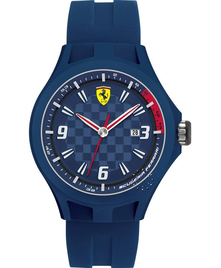 FERRARI Pit Crew Blue Rubber Strap Τιμή: 99€ http://www.oroloi.gr/product_info.php?products_id=35040
