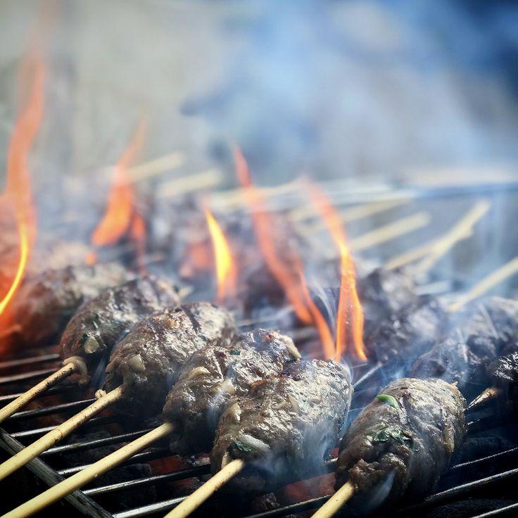 Kafta (Lebanese Beef Kebabs) & Homemade Sujuk (spicy sausage)