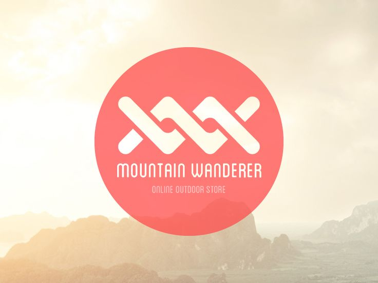 Mountain Wanderer logo mood