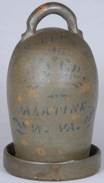 Old Stoneware Chicken Waterer....Harden, Palatine, W. Va.