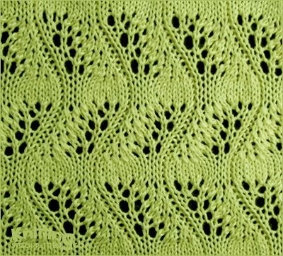 Japanese Feather Stitch - http://www.knittingstitchpatterns.com/2015/04/japanese-feather-stitch.html