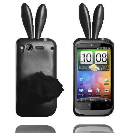 Bunny (Musta) HTC Desire S Silikonisuojus