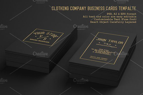 Clothing Company Business Cards Company Business Cards Business Card Design Business Cards Creative Templates