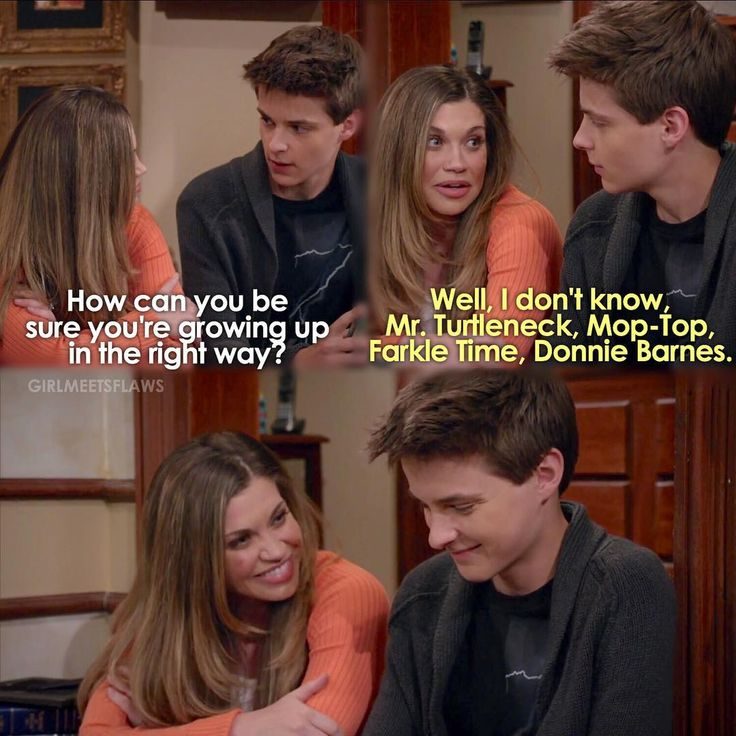 Girl Meets World (3x12)<< This convo was so cute. I loved when Farkle was talking to his future mother in law!!