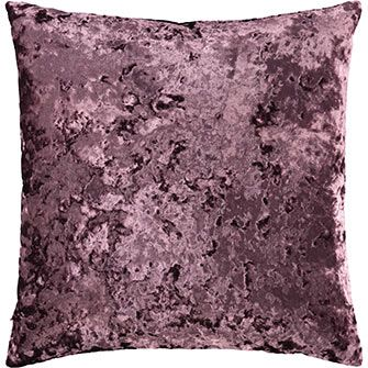 Plum Square Velvet Cushion