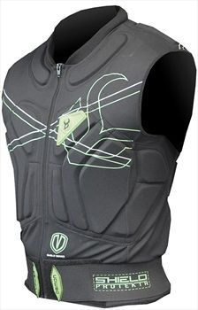 Demon Shield Vest Snowboard/Ski Body Armour, L, Black/Green