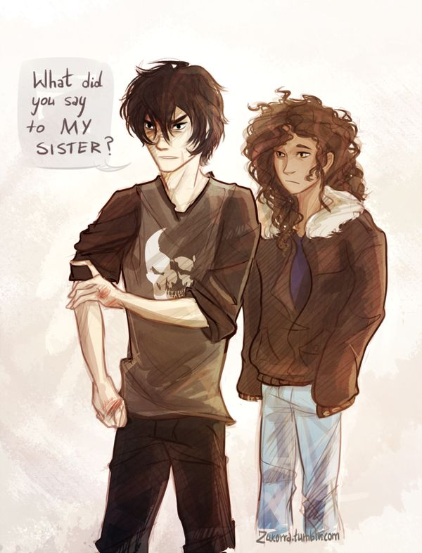 Hazel: Nico, please, just ignore him. Bully: listen to your sister, I don't think she wants to see you get hurt. Nico: I don't think it's me she's worried about getting hurt.<<< Bully: Like you could hurt me. Nico: *beats up the bully* Police: What's going on here?!  Nico: *shadow travels to china* Bully: He- he
