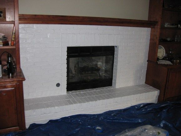 Painted Fireplace Update DIY Projects And Ideas For Home