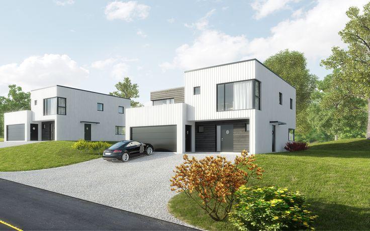 Kataloghus U- 510 moderne, funkisinspirert bolig med leilighet!