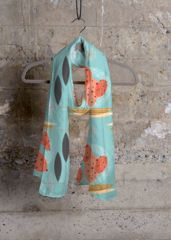 MID_MOD_SEA CASHMERE SILK SCARF Designed by Mary Pagone