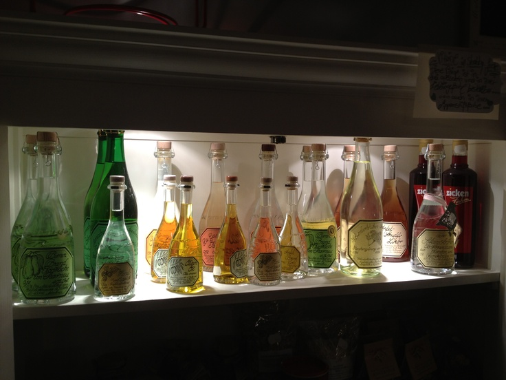 ... bottles with finest content ...