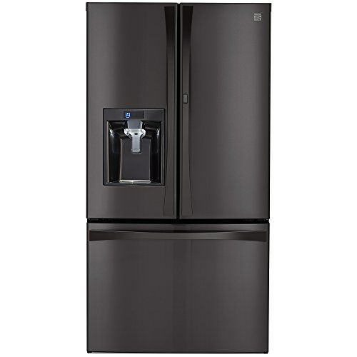 Kenmore Elite 28.5 cu. ft. French Door Bottom Freezer Refrigerator with Grab-N-Go Door in Black Stainless Steel, includes delivery and…
