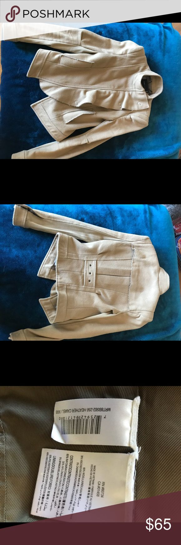 Bcbg Wool/cashmere blend Jacket (used) Gently used jacket and color is camel. Size :XXS Bought at BCBG store so this is authentic BCBGMaxAzria Jackets & Coats Pea Coats