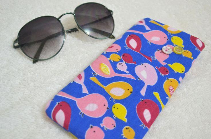 Porta-óculos Passarinhos | R$15,00