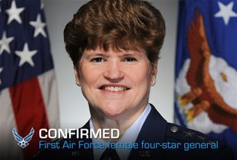 Air Force Lt. Gen. Janet Wolfenbarger for promotion March 26, 2012 making her the first female four-star general in Air Force history.