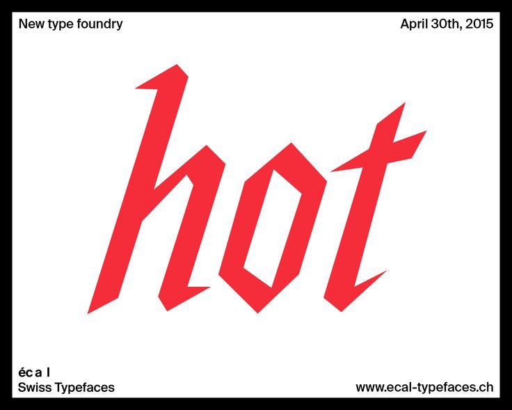 ECAL Typefaces - News - Swiss Typefaces