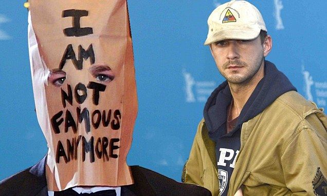 Shia LaBeouf brings back paper bag for silent and tearful performance