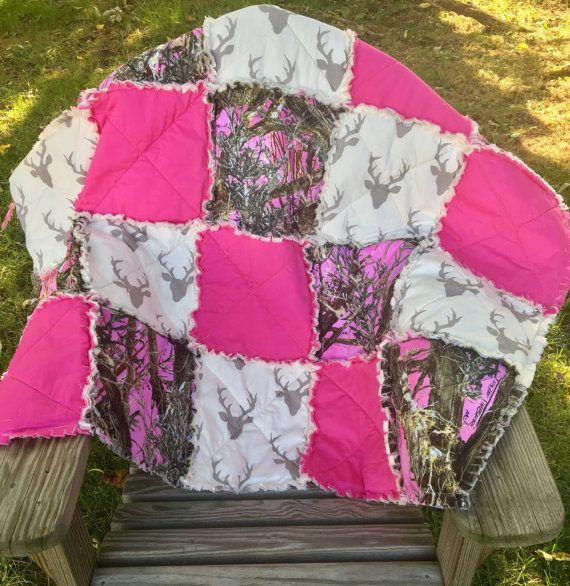 Baby+Girl+Pink+Camo+quilt+girl+camoBlanket+by+StitchedinAPickle