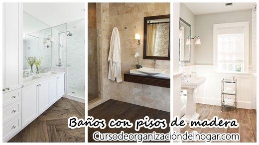 #como_organizar_el_baño #Decoracion_de_baños 30 Diseños de baños con piso de madera: 30 Diseños de baños con piso de madera Hoy quiero…