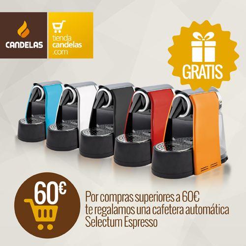 Por compras superiores a 60 euros una cafetera automática Selectum Espresso de regalo.