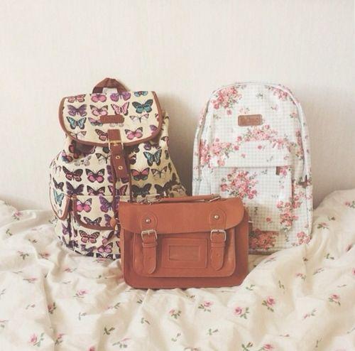 satchel . girly backpacks
