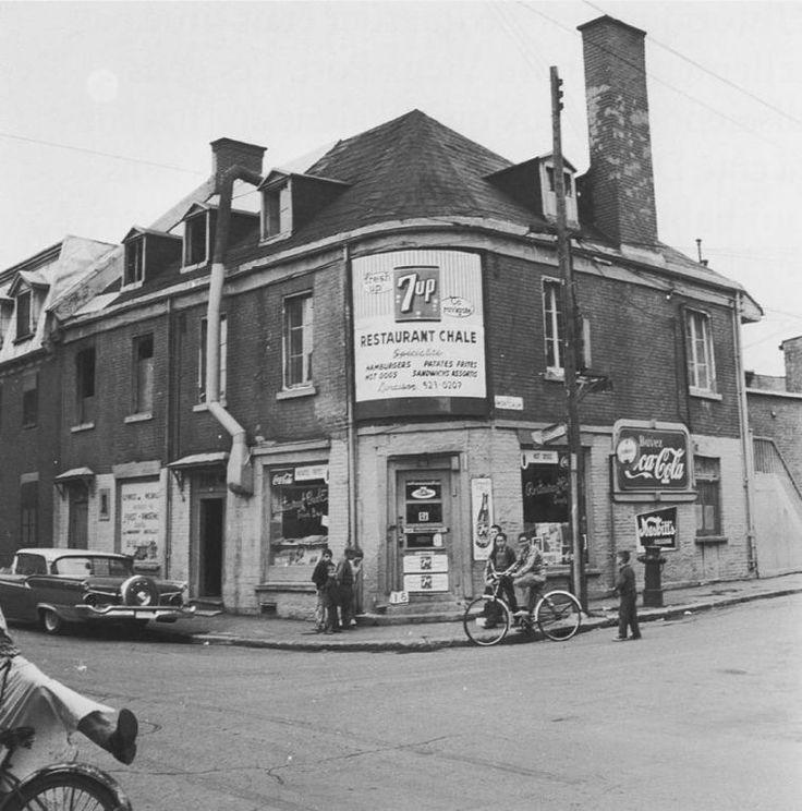 Rue Montcalm 1963 Avant la construction de la tour Radio-Canada 1963/1964 Tirée du livre du livre Quartiers Disparus LaPresse+