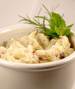 Mashed Potatoes with Greek Yogurt... might try this for Thanksgiving this year!