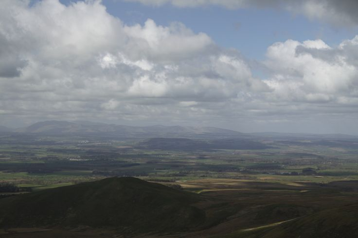 The Eden Valley from Great Dun Fell in Cumbria