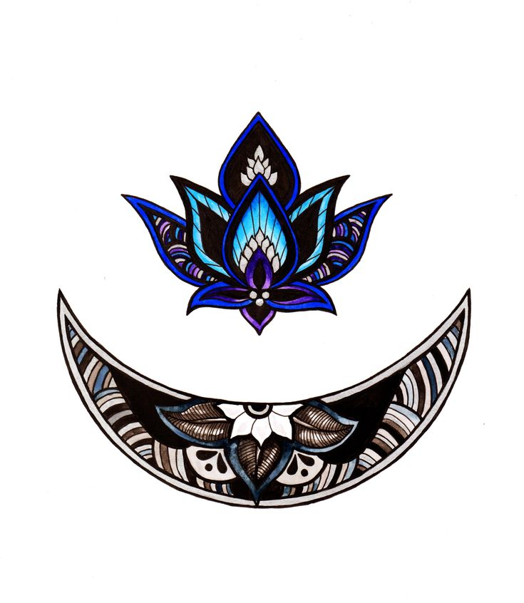 The May flowering moon. Thinking about getting something similar on my ankle with less detail in the moon and maybe a purple lotus