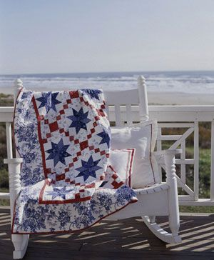 red, white and blue and the beach...perfect