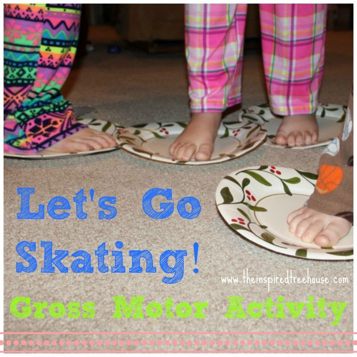 Let's Go Skating inside! A great way to develop gross motor skills, balance, proprioception, motor control and motor planning.