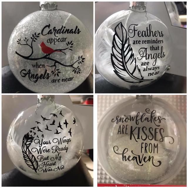 Christmas Ornaments To Remember Deceased Loved Ones Vinyl Christmas Ornaments Christmas Ornaments Cricut Christmas Ideas