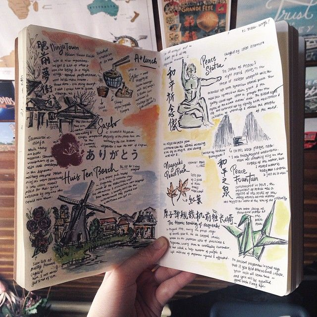 119 best images about travel art journal on pinterest