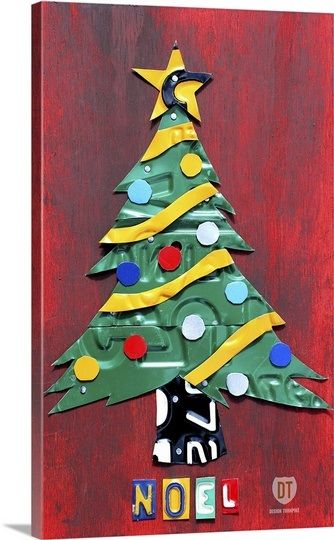 Noel Christmas Tree License Plate Art
