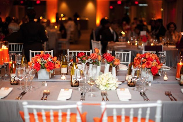Grey and Orange Modern Wedding in Washington DC- Una paleta de colores perfecta para mi boda