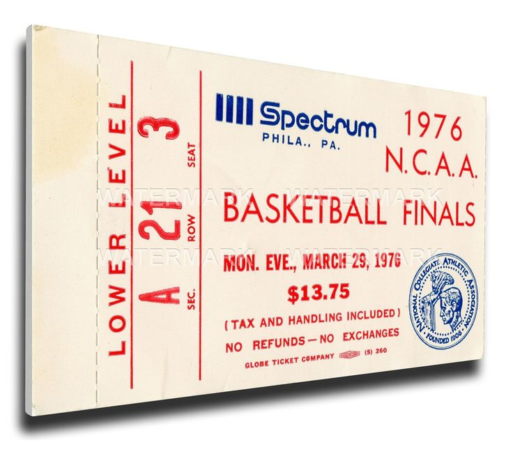 Indiana Hoosiers Wall Art - 1976 NCAA Basketball Finals Canvas Mega Ticket