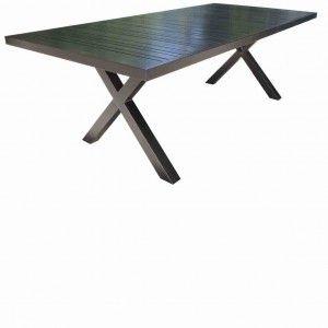 """Cast Aluminum Patio Furniture - Milano 84""""x 42"""" Dining Table"""