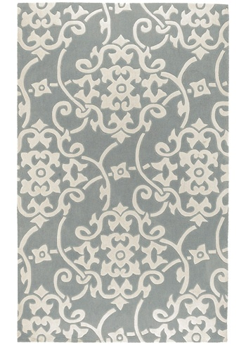 Cosmopolitan Silver Gray rug...many sizes to choose from, not super spendy :)