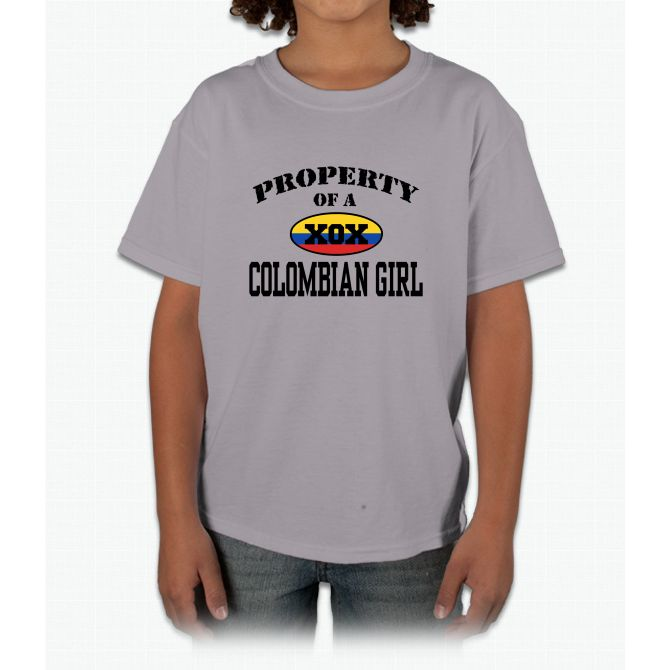 Property Of A Colombian Girl Baseball Jersey Young T-Shirt