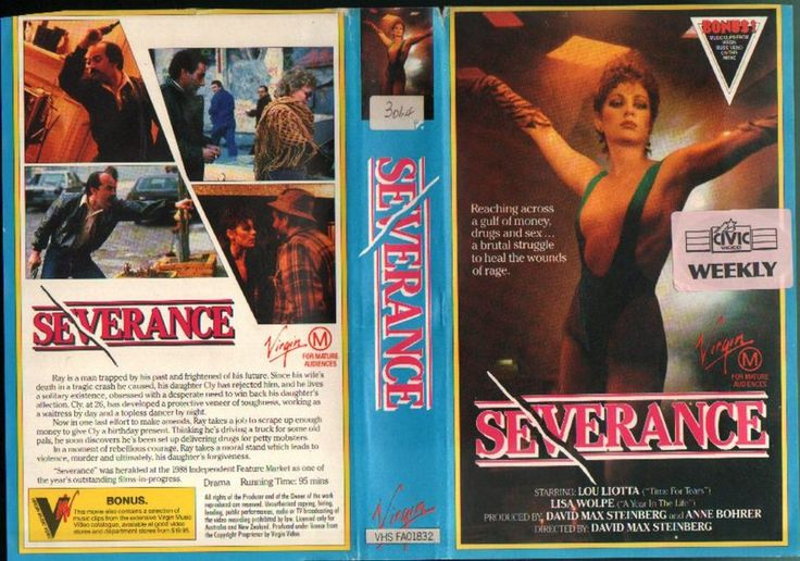 """SEVERANCE"" (""LOU Liotta"", ""FOX LORBER"", 1988), ""PAL VHS"", ""(MCEG) Virgin Vision"" (""Virgin Video"", ""FA01832"") | ""konst"", ""taide"", ""Sims 2 goth"", ""gootit"", ""tuliaseet"", ""sidereal astrology"", ""Scorpio"", ""Sagittarius"", ""Pisces fish"", ""Aries"", ""arthouse"", ""indie bangs"", ""metallimusiikki"", ""Danzig"", ""rött hår"", ""bob frisyr"", ""lugg"", ""otsatukat"", ""Portugal eu"", ""Katalonien"", ""Katalonia"", ""katalonialaiset"", ""Catalexit"", ""folkomröstning"", ""jälvständighet"", ""Cult of Luna"" & ""Mira Aroyo (Ladytron)"""