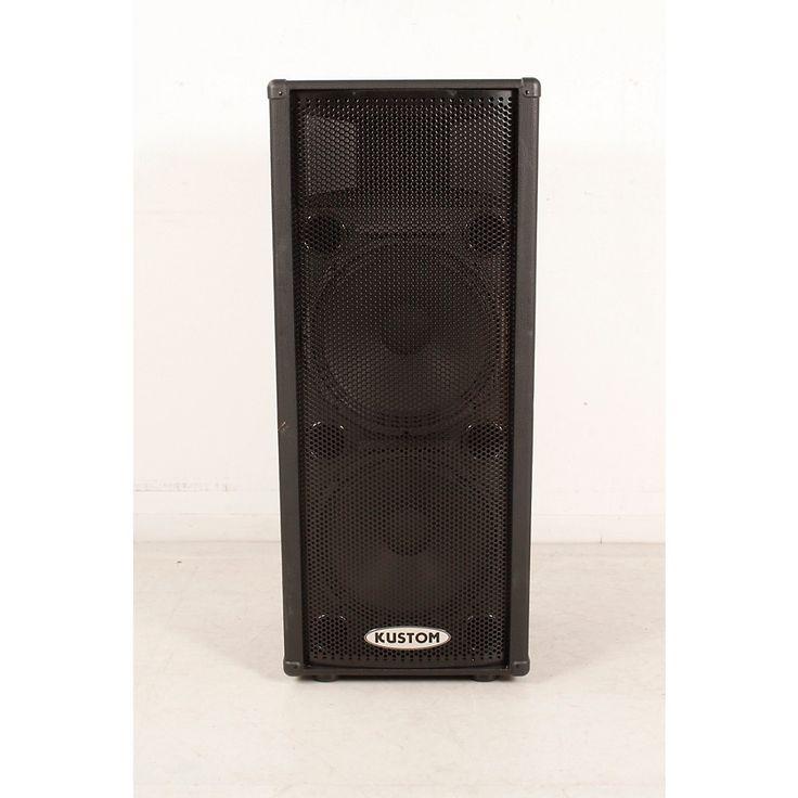 """Kustom PA KPC215HP Dual 15"""" Powered PA Speaker Regular 190839109521"""
