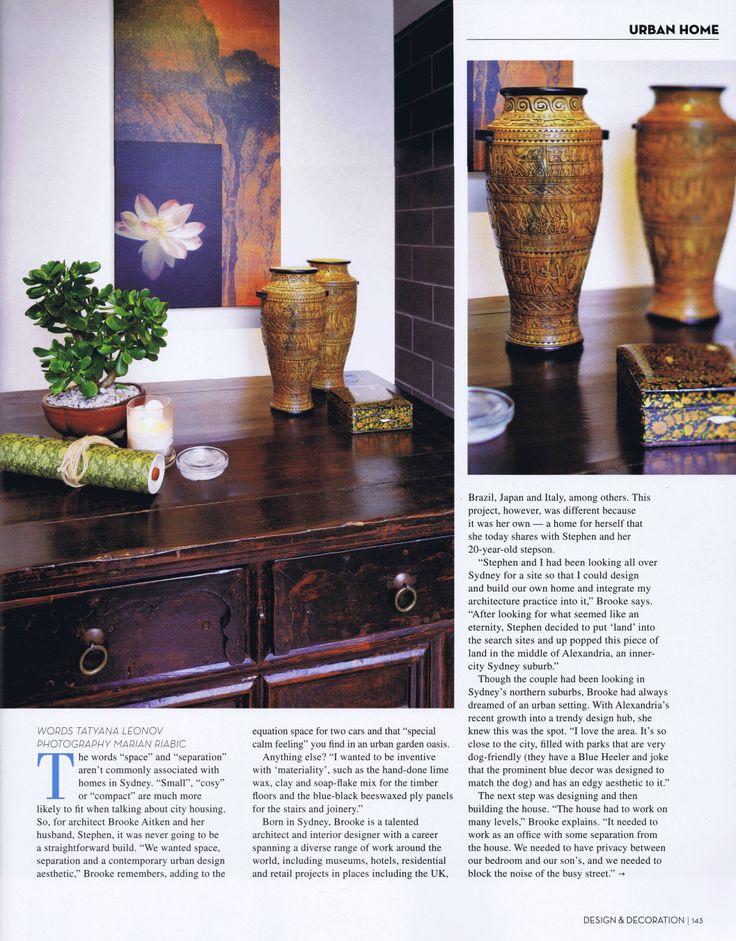 Design & Decoration Vol 4 Page 4 Brooke Aitken Design