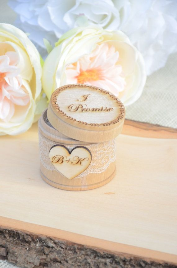 Personalized rustic ring bearer box i by BellaBrideCreations