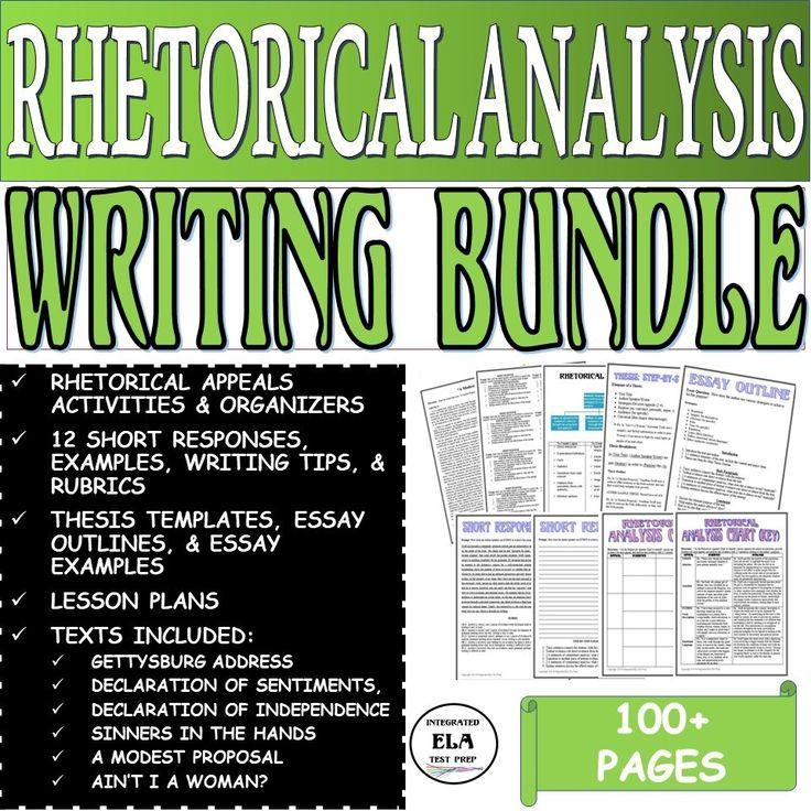 Teach How to Write a Rhetorical Analysis Essay STEP BY