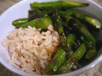 Asparagus with Black Bean Sauce by veglicious #Asparagus #Black_Bean_Sauce #veglicious