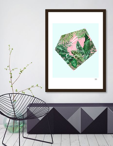 """Discover «Tropical Leaves """"The best is yet to come""""», Limited Edition Fine Art Print by Volga Ilyina - From $29 - Curioos"""