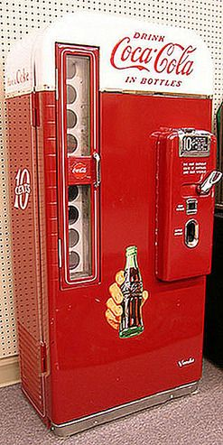 vintage bottle coke machine